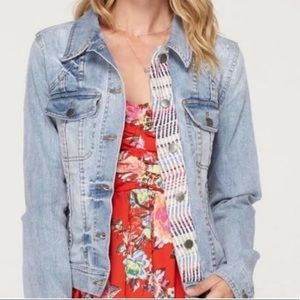Roxy | Denim Embroidered Jean Jacket | M